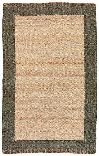 Stone & Beam Contemporary Border Jute Rug, 4' x 6', Natural ()