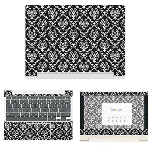 decalrus - Protective Decal Damask Skin Sticker for Lenovo ChromeBook C330 (11.6'' Screen) case Cover wrap LEchrmbookC330-80 by decalrus (Image #4)