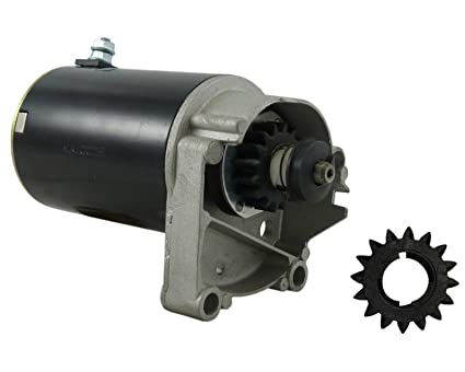 STARTER FITS BRIGGS /& STRATTON 14 16 18 HP STARTER 497596 V TWIN WITH FREE GEAR