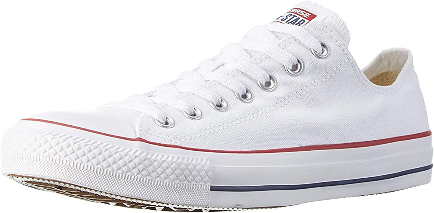 Converse Chuck Taylor All Star Season Ox, Zapatillas de Tela Unisex Adulto, Blanco, 41 EU