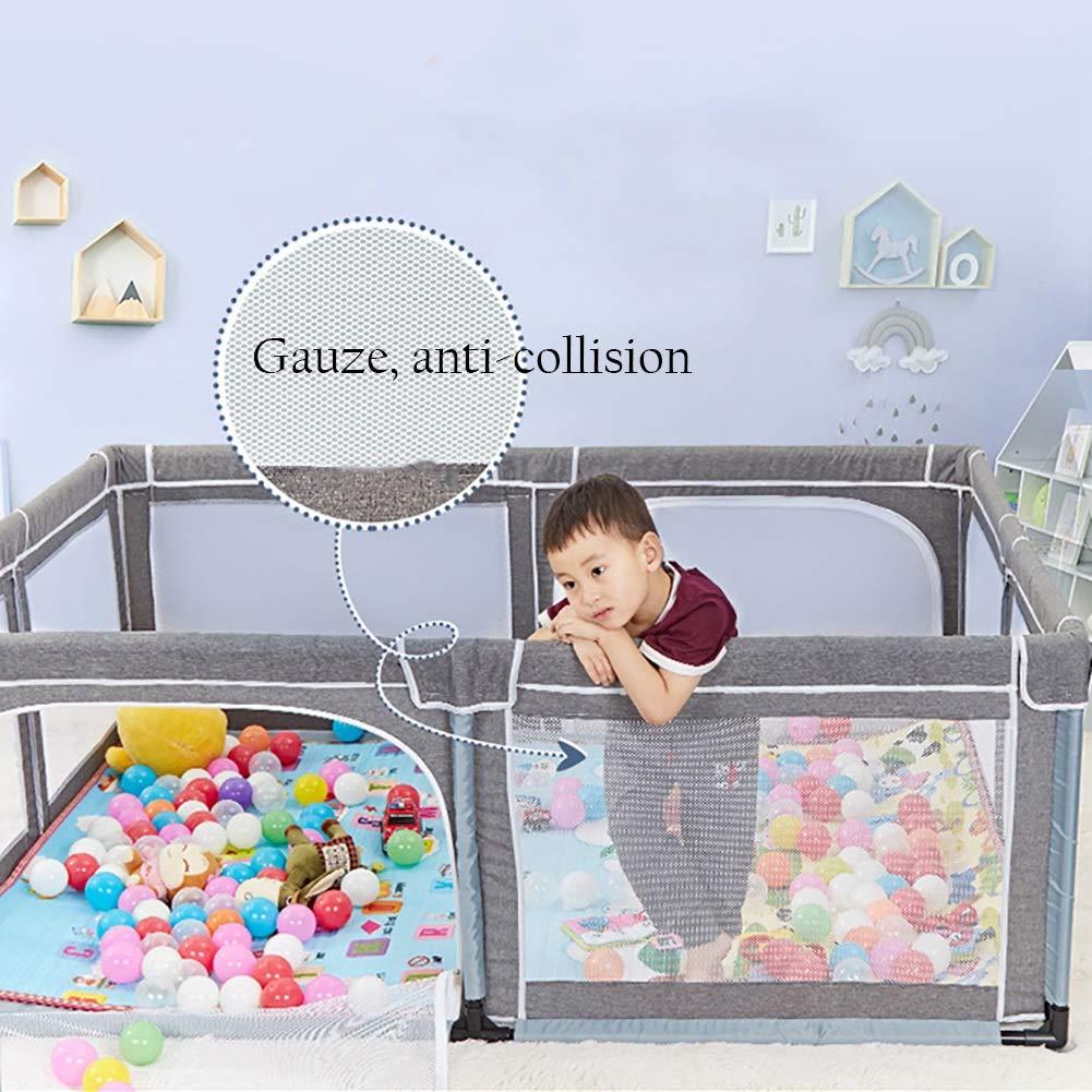 Color : Gray 190 X 150 X 70 Cm Baby playpen Parque Infantil para Beb/és con Colch/ón Patio De Juegos Port/átil Parque Infantil para Beb/és Patios De Seguridad Valla Interior para Juegos De Ni/ños