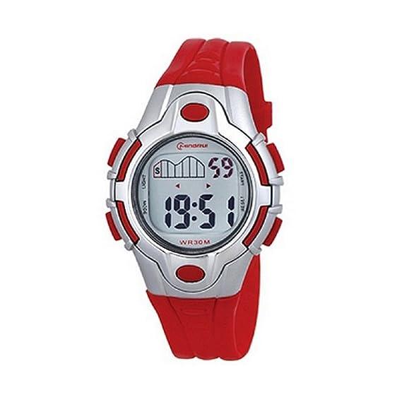 Reloj infantil cuarzo, digital, correa de plástico, color rojo: Amazon.es: Relojes