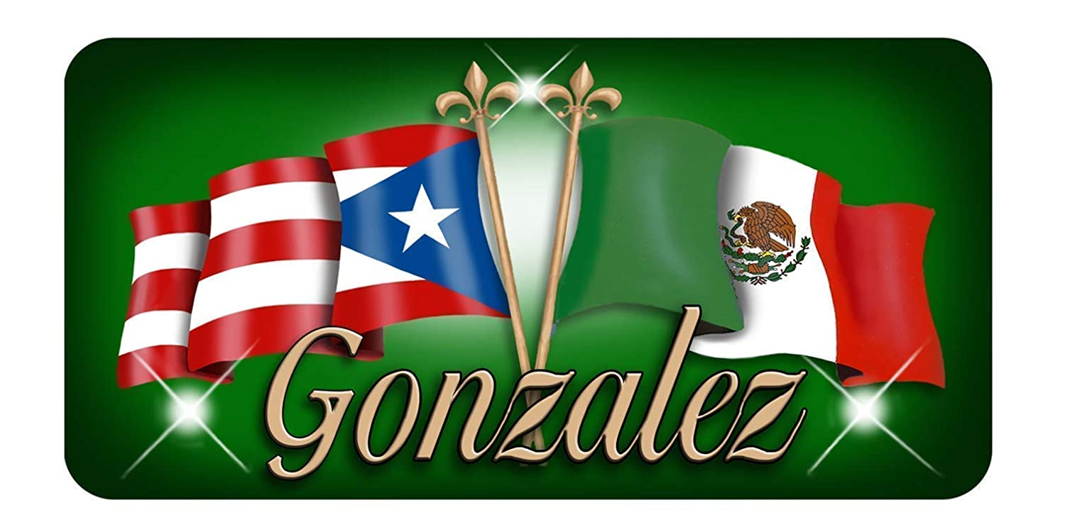 Puerto Rico Mexico Unity Flags Personalize Vinyl Decal Sticker Puerto Rican Latino Mexican