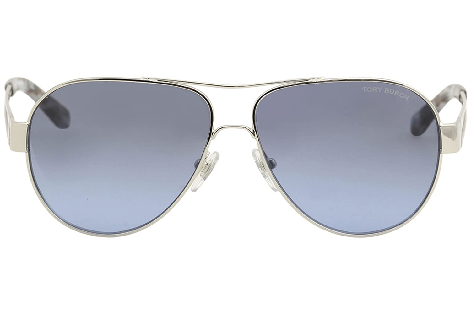 22a54a3508 Amazon.com  Tory Burch Women s 0TY6060 55mm Silver Blue Grey Gradient One  Size  Clothing