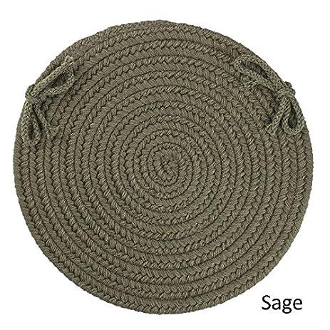 amazon com rhody rug woolux wool reversible chair pads set of 4