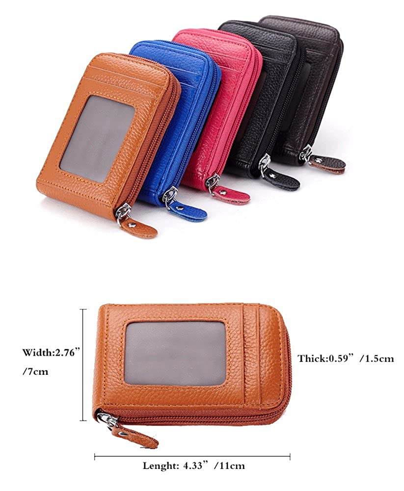 Crazy Cart PU Leather Credit Card Holder with Card Slots Small Purse