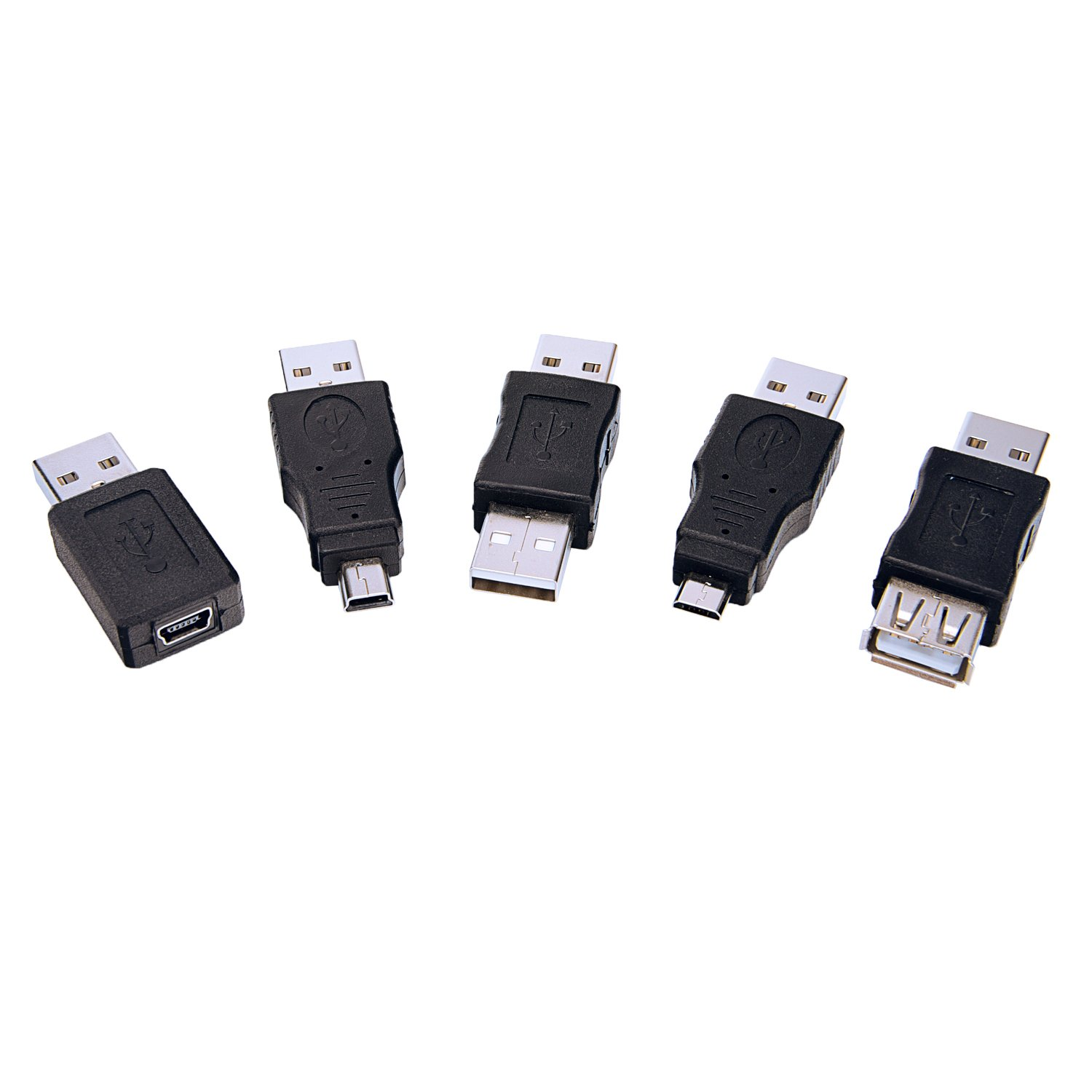 Sunmns OTG USB Mini Micro Male to Female Connector Adapter Converter 13 Pieces Support Data Sync and Charging