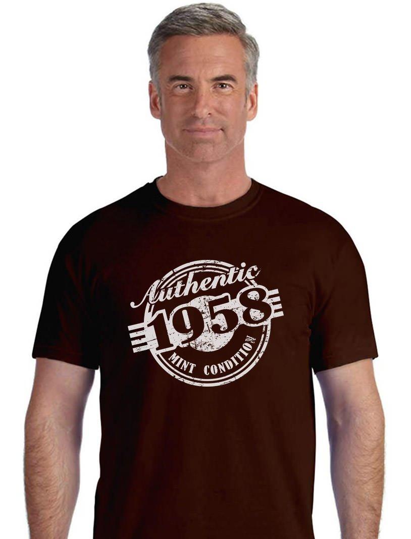 Tstars 60th Birthday Gift 1958 Mint Condition Funny Men's T-Shirt GM0Ph0agW
