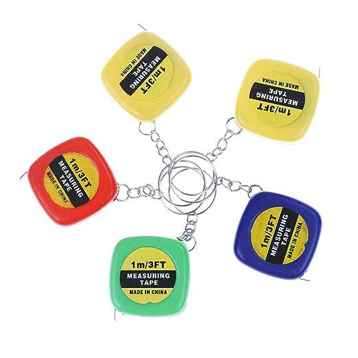 ISKYBOB 5 piezas Mini retráctil Pull Ruler llavero cinta ...