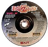 SAIT 22604 Type 27 7-Inch x 1/4-Inch x 7/8-Inch 8500 Max RPM Z-Tech - Z24R Zirconium Depressed Center Grinding Wheels, 25-Pack