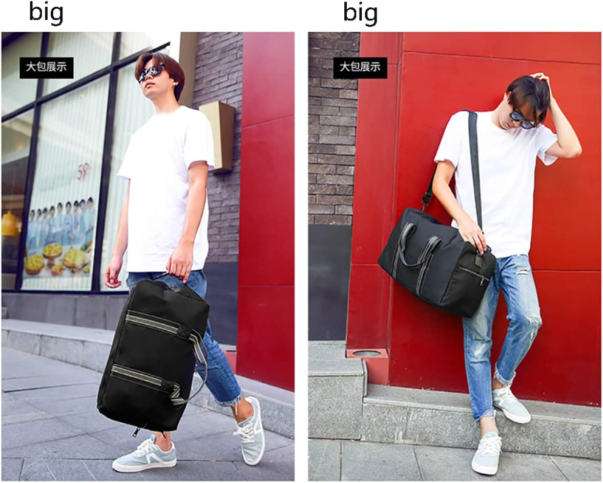 BAAFG Large Capacity Portable Travel Shoulder Bag Can Hold A Lot Of Necessities,Black-big