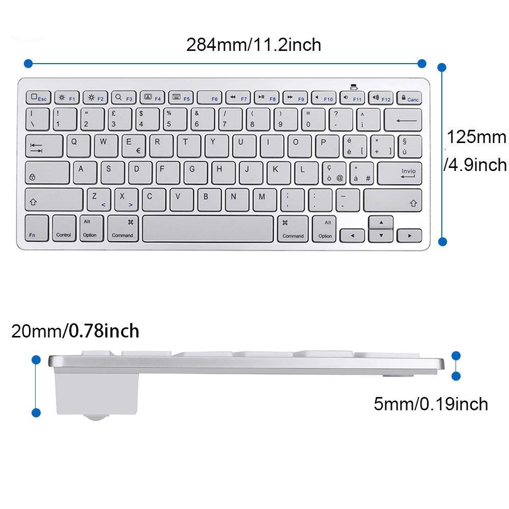 Jclivetek minivelas Bluetooth-3.0-teclado, para Apple iPhone ...