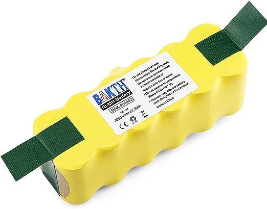 BAKTH 14.4V 3000mAh Ni-MH Batería para iRobot Roomba 500 510 520 ...