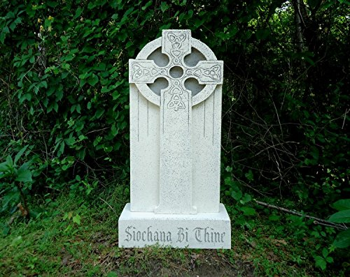 Evil Soul Studios Peace Be Thine Celtic Cross Tombstone Halloween Prop Antique (Antique Halloween Masks)
