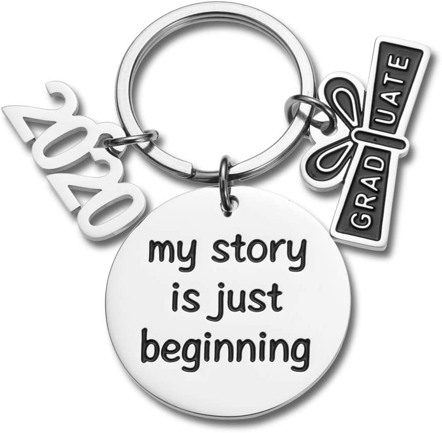 2019 Graduation Keychain Gifts for Him Her Graduation Masters Nurses Students from College Medical High School Inspirational Gifts for Women Men Girls Daughter Son Graduates from Dad Mom