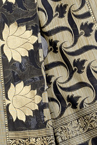 Chandrakala-Womens-Black-Banarasi-Cotton-Silk-Saree