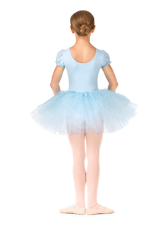 Amazon.com: Las niñas Mock Wrap Puff manga Tutu vestido ...