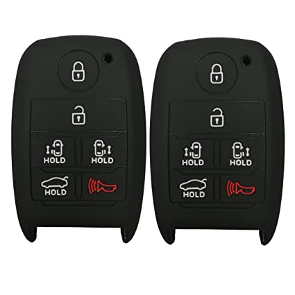 Protective Silicone Rubber Remote Key Fob Cover For Chevy Camaro HYQ4EA Black