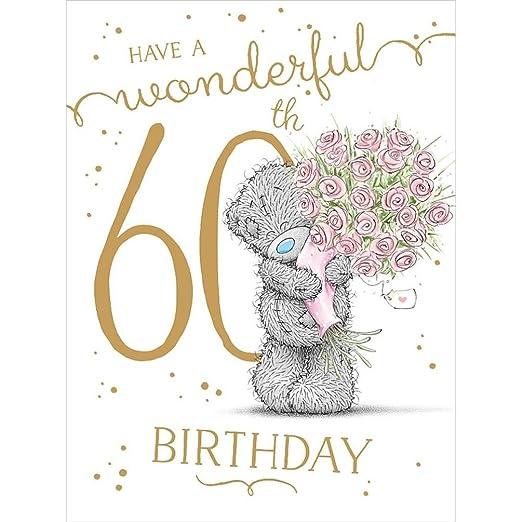 shop inc Tarjeta de felicitación de 60 cumpleaños con texto ...