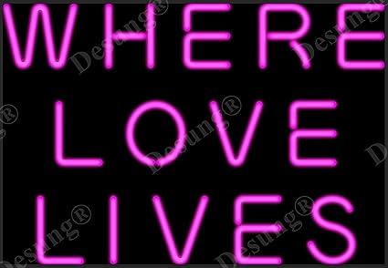 Amazon.com: desung nuevo donde el amor vidas señal de neón ...