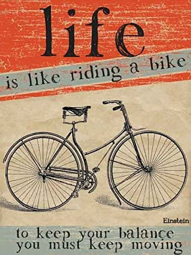 La vida es como andar en bicicleta pequeña muestra de acero (og 2015): Amazon.es: Hogar