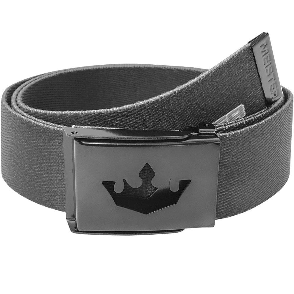 Meister Player Golf Web Belt - Adjustable & Reversible - Black