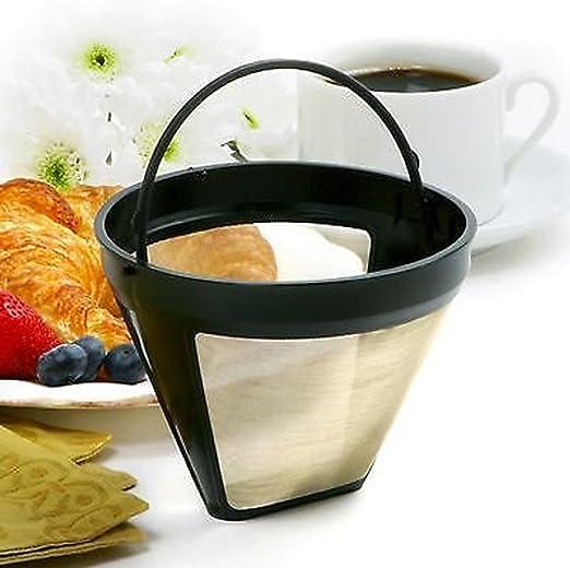 Filtro de cafetera vertical, reutilizable, filtro de café, permanente, lavable, filtro de café y cerveza recomendada ...