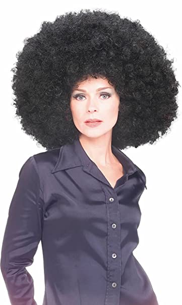Amazon.com: Rubies Costume Afro peluca, talla única: Clothing