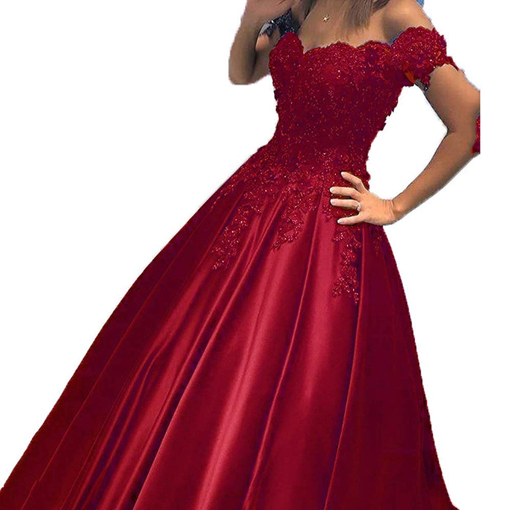 Burgundy Modeldress Womens Lace Evenig Dresses Long Formal Prom Party Gowns