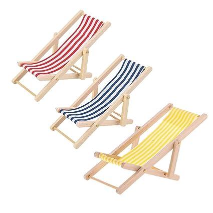 Amazon.com: KODORIA 3 piezas de silla de playa plegable en ...