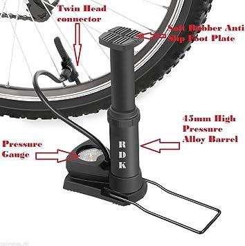 RDK Pro pie activado en bicicleta bomba con manómetro, Presta y ...