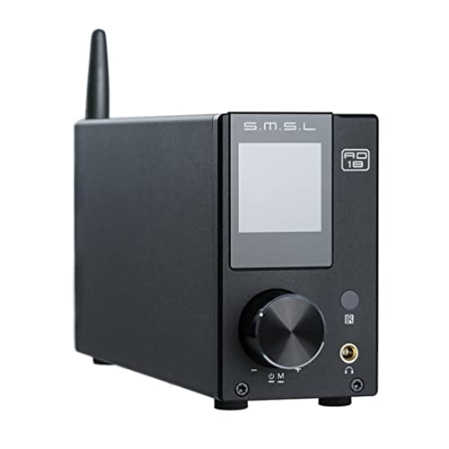 SMSL AD18 HiFi Audio Stereo Amplifier with Bluetooth 4.2 Supports Apt-X,USB DSP