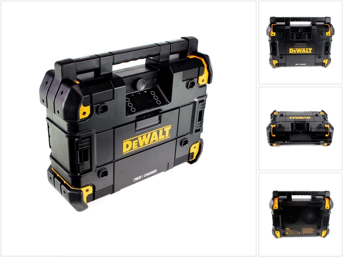 Radio sur batterie DeWalt DWST1-81078TStak - DAB+, FM - Avec fonction charge 10,8V-54V, Bluetooth - IP54 - Caisson de basse intégré