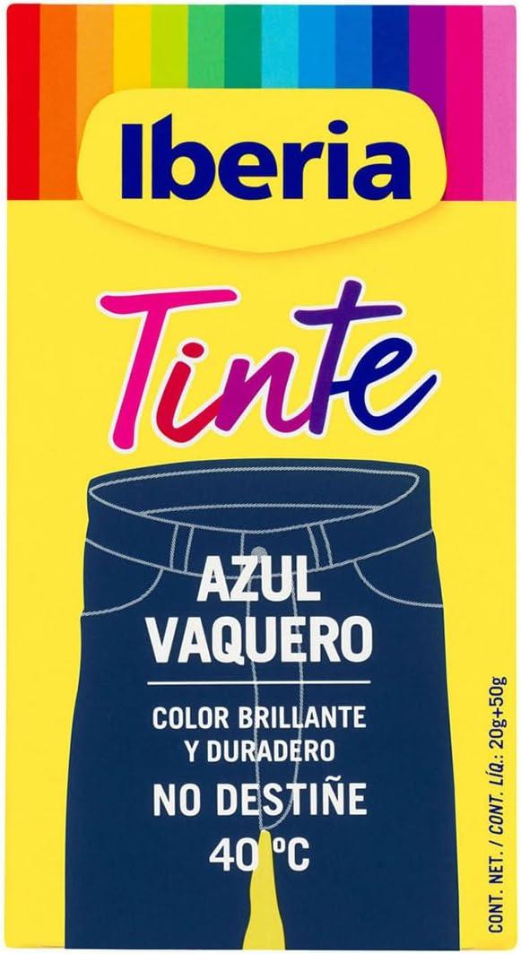 Iberia - Tinte Azul Vaquero para ropa, 40°C