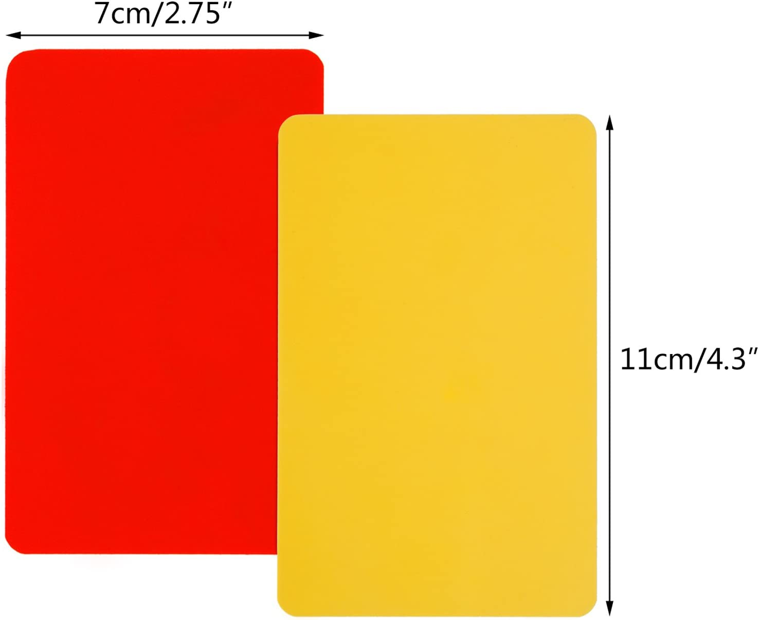 Red Yellow and Stainless... Giveet Metal Whistle with Sports Referee Card Set