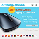 FREESAY AI Voice Wireless Mouse 30 Languages Voice Typing Voice Translate Voice Searching Instant Writing for PC, Laptop…