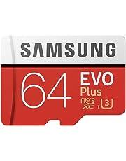Samsung EVO Plus microSDHC 64 GB Speicherkarte bis zu 100 MB/s, UHS-I U3 (inkl. SD Adapter)