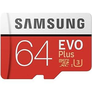 Samsung Memorie MB-MC64GA EVO Plus Scheda microSD da 64 GB, UHS-I U3, con Adattatore SD
