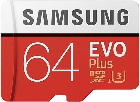 Samsung EVO Plus - Tarjeta de Memoria de 64 GB y Adaptador SD Rojo ...