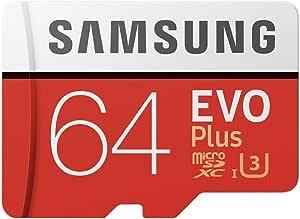 Samsung 64GB MicroSDXC EVO Plus Memory Card w/Adapter
