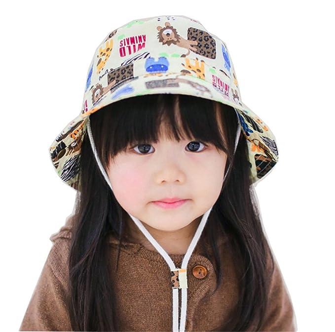Bambino Bambini Moda Primavera Estate Animale Multicolore Stampa Cotone  Cappelli Alla Pescatora Cappello Da Sole Per Ragazzi E Ragazze 56a1e2c7c2dc
