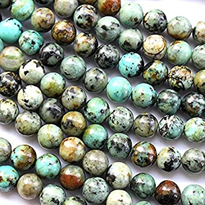 Natural African Turquoise Round 10mm 6mm 8mm for Necklace Gemstone Loose Beads
