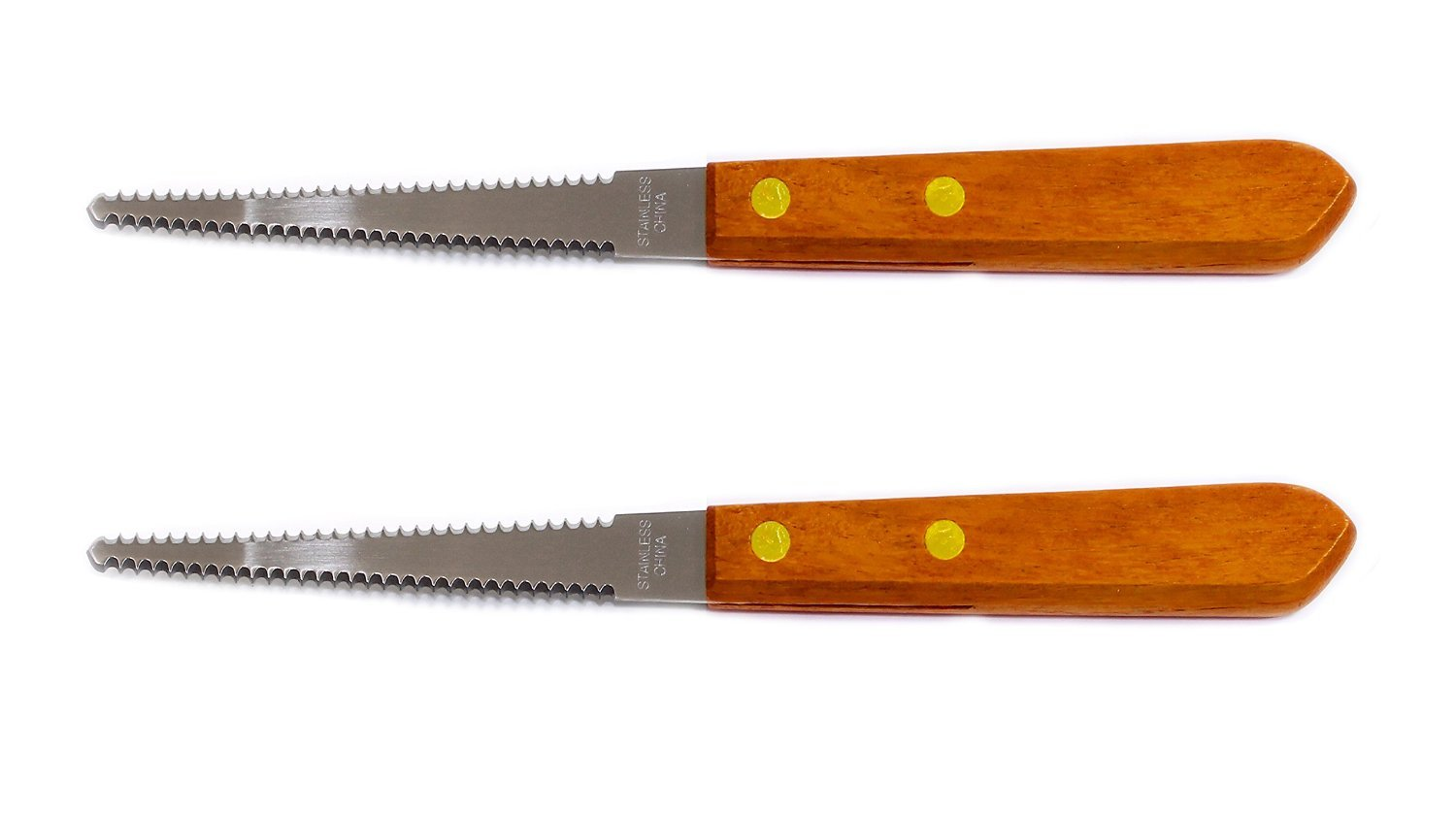 Set of 2 Grapefruit Knives, Stainless Steel Blade, Wood Handle, Serrated Blade Chef Craft Corporation 4335493395