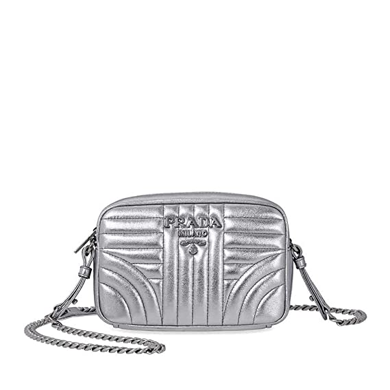 af6c44020f Prada Diagramme Crossbody Bag- Silver  Amazon.ca  Watches