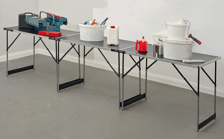 Colorus Premium Tapeziertisch 3 tlg Flohmarkttisch Beistelltisch 4-fach h/öhenverstellbar Mehrzwecktisch Beer-Pong Tisch   Multifunktionstisch 50 kg Tragkraft Arbeitstisch 300 x 60 x 94 cm