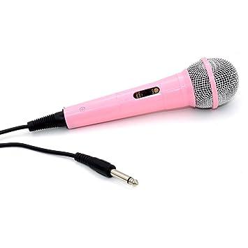 zramo® Professional Classic-Style Micrófono de color rosa para niños ...