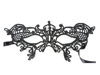 Máscara de Encaje de Negra para Mujeres en Misteriosa Mascarada para la Fiesta de la Mascarada