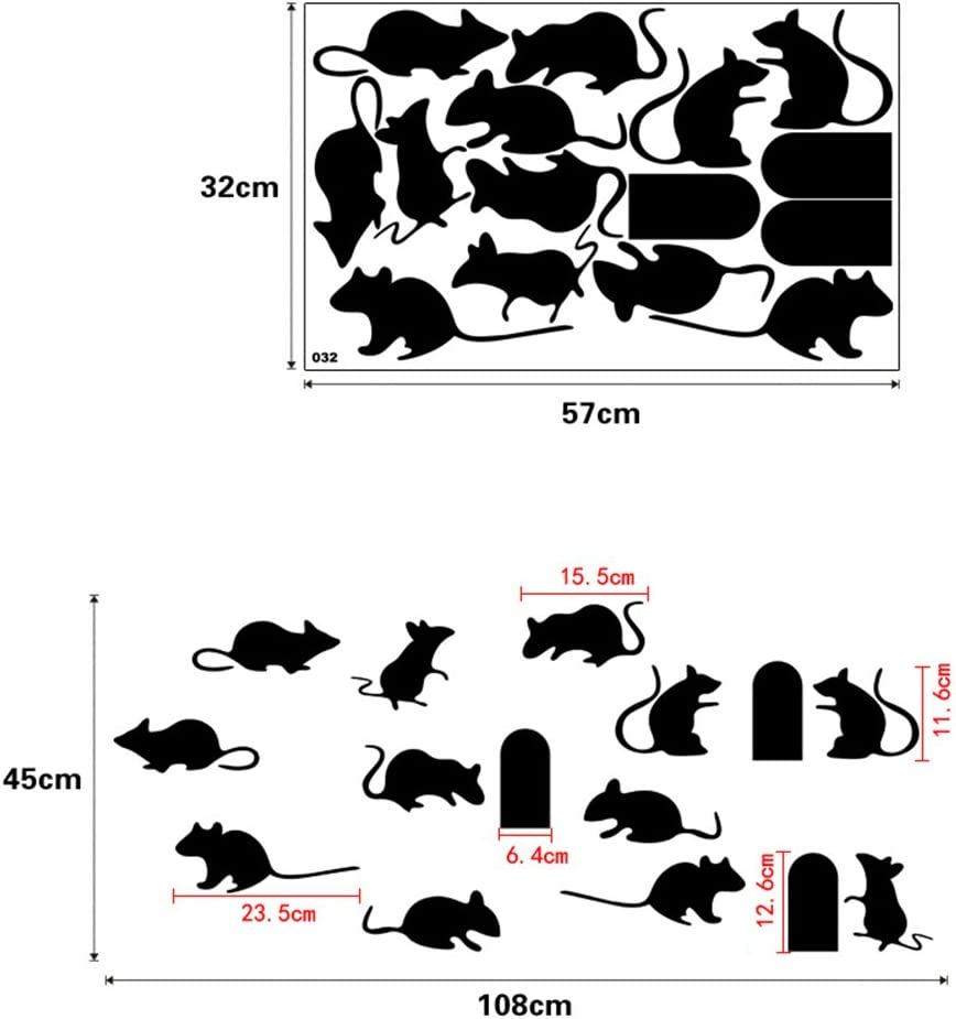 IMIKEYA Cartoon Mice Stickers Pasters Decals for Children Craft Projects Classroon Bedroom Stairs Wall Decoration 32 x 75cm