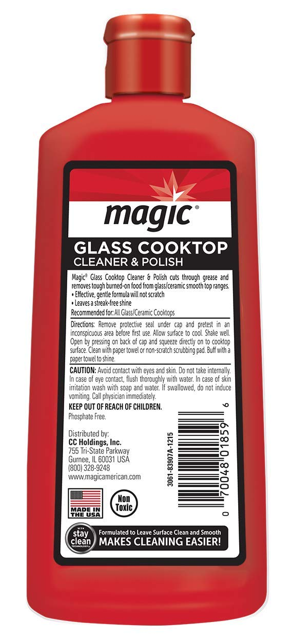 MAGIC Glass Cooktop Cream Cleaner & Polish - 16 oz. and Daily Cleaner - 14 Ounce - Cleans and Protects Glass and Ceramic Smooth Top Ranges with its Gentle Formula by MAGIC (Image #7)