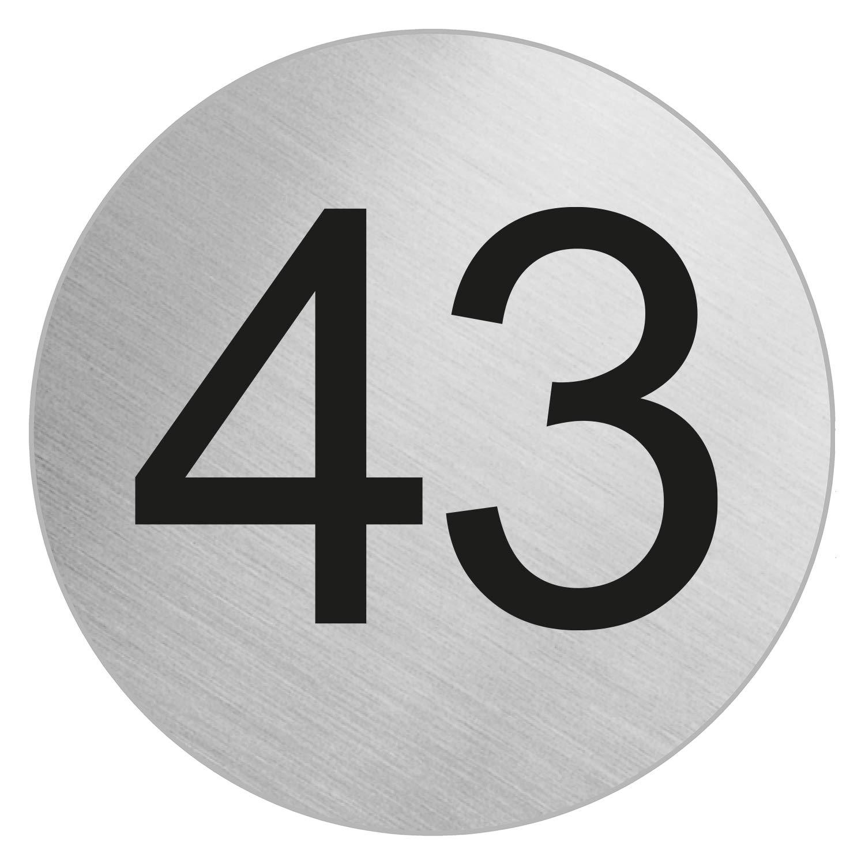 OFFORM Stainless Steel Door Number'43' Ø 75 mm 41033
